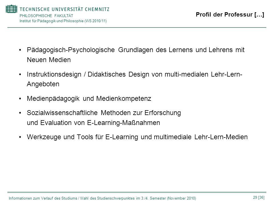 Profil der Professur […]